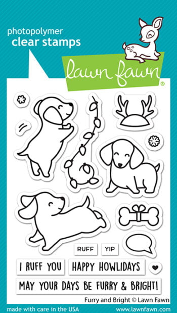LF2670 Lawn Fawn Clear Stamps Furry And Bright sml