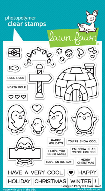 LF2674 Lawn Fawn Clear Stamps Penguin Party sml
