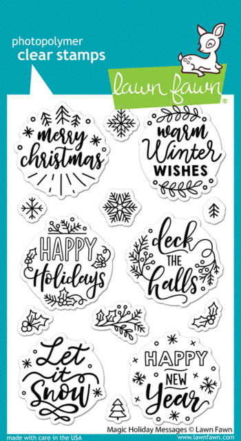LF2676 Lawn Fawn Clear Stamps Magic Holiday Messages sml