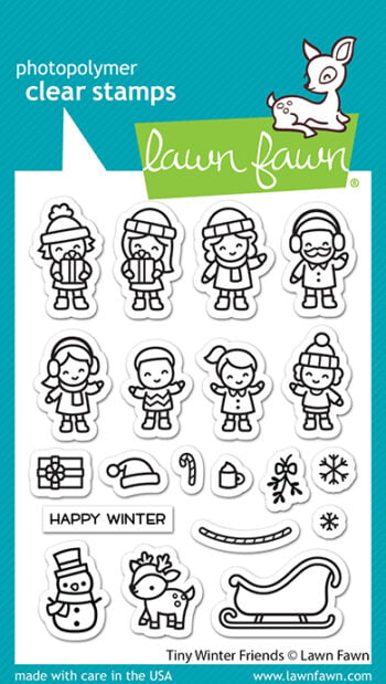 LF2678 Lawn Fawn Clear Stamps Tiny Winter Friends sml