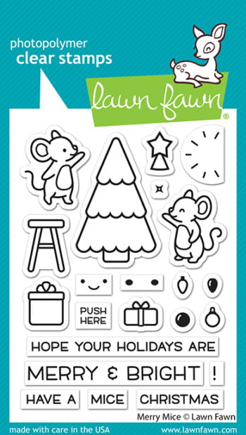 LF2684 Lawn Fawn Clear Stamps Merry Mice sml