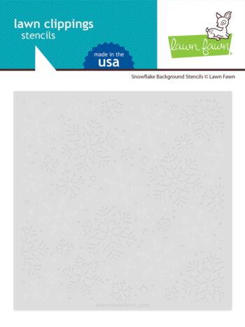 LF2710 Lawn Fawn Snowflake Background Stencils sml