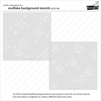 LF2710 Lawn Fawn Snowflake Background Stencils2