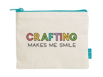 LF2719 Lawn Fawn Zipper Pouch Crafting Makes Me Smile