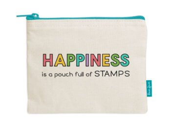 LF2720 Lawn Fawn Zipper Pouch Happiness Is A Pouch Full Of Stamps