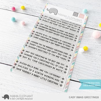 S mama elephant clear stamps EASY X MAS GREETINGS grande