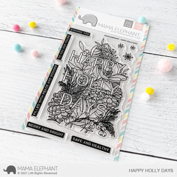 S mama elephant clear stamps HAPPY HOLLYDAYS grande