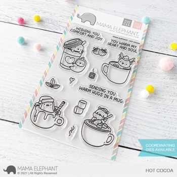 S mama elephant clear stamps HOT COCOA grande