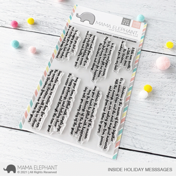 S mama elephant clear stamps INSIDE HOLIDAY MESSAGES grande