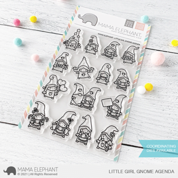 S mama elephant clear stamps LITTLE GIRL GNOME AGENDA grande