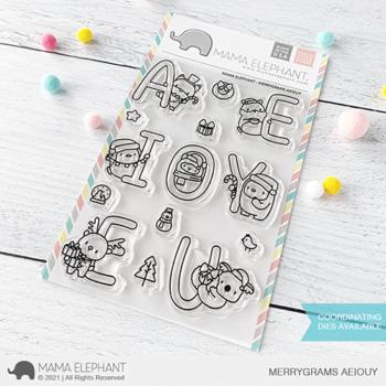 S mama elephant clear stamps MERRYGRAMS AEIOUY grande