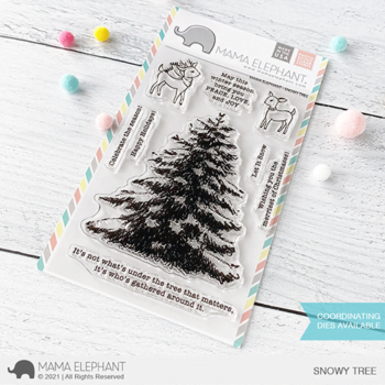 S mama elephant clear stamps SNOWY TREE grande