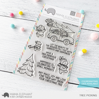 S mama elephant clear stamps TREE PICKING grande