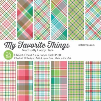 my favorite things cheerful plaid 6x6 inch paper p
