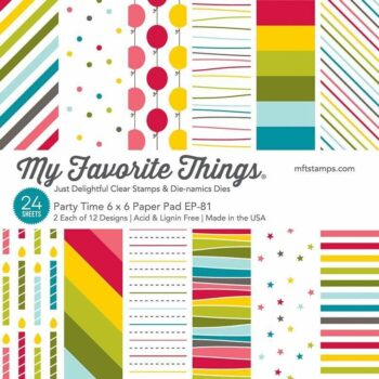 my favorite things party time 6x6 inch paper pad e