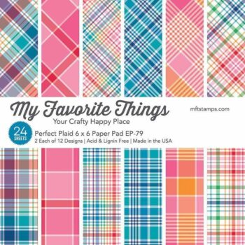 my favorite things perfect plaid 6x6 inch paper pa