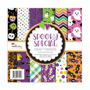 polkadoodles spooky special 6x6 inch paper pack pd