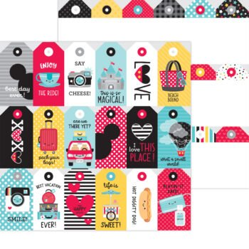 7330 Doodlebug Fun At The Park luggage tags double sided cardstock