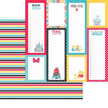 7331 Doodlebug Fun At The Park goofy stripe double sided cardstock