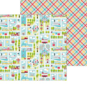 7332 Doodlebug Fun At The Park you are here double sided cardstock