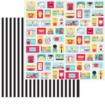 7333 Doodlebug Fun At The Park main street double sided cardstock