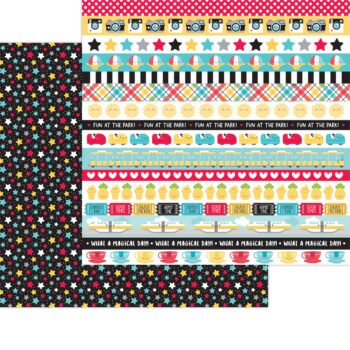 7338 Doodlebug Fun At The Park movie stars double sided cardstock