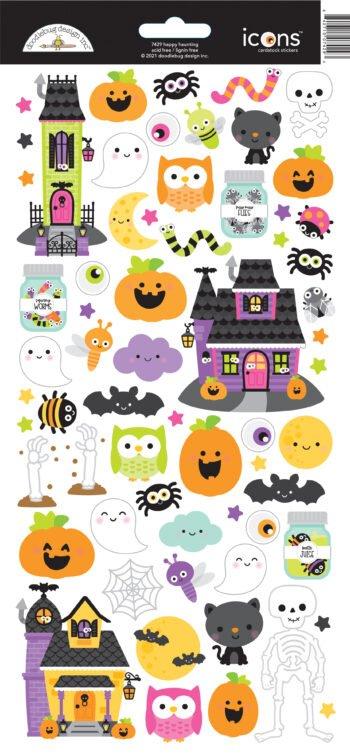 7429 Doodlebug happy haunting icons stickers