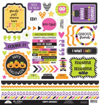 7430 Doodlebug happy haunting this that stickers