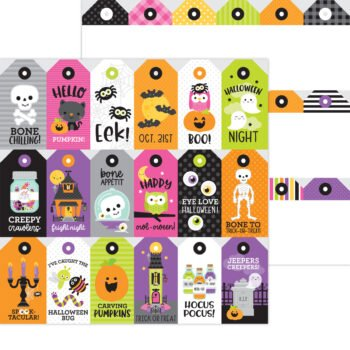 7434 Doodlebug Happy Haunting spook tag ular double sided cardstock