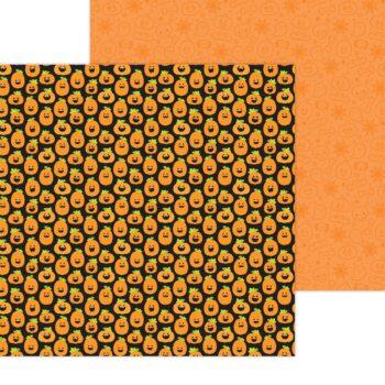 7435 Doodlebug Happy Haunting hello pumpkin double sided cardstock