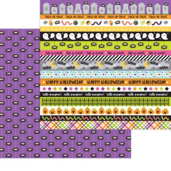 7439 Doodlebug Happy Haunting along came a spider double sided cardstock
