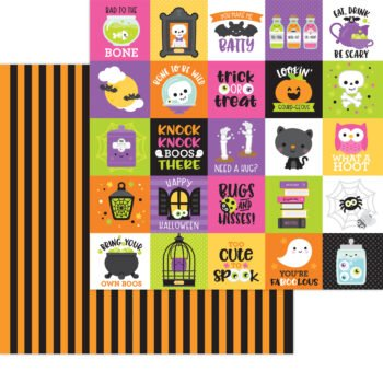 7440 Doodlebug Happy Haunting betwitched double sided cardstock