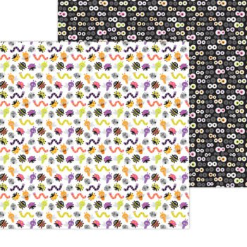 7441 Doodlebug Happy Haunting bugs and hisses double sided cardstock