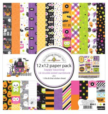 7444 Doodlebug Happy Haunting 12x12 paper pack