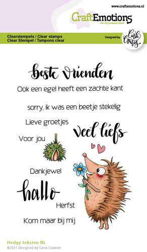craftemotions clearstamps a6 hedgy teksten nl carla creaties 321498 nl G