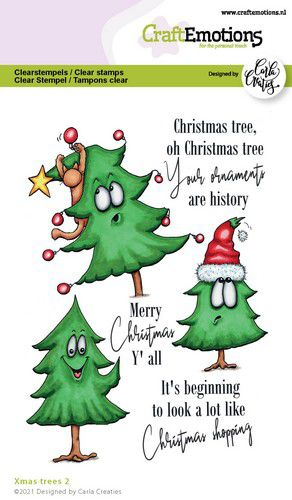 craftemotions clearstamps a6 xmas trees 2 eng carla creaties 321944 nl G