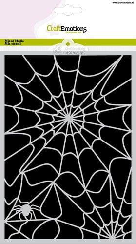 craftemotions mask stencil halloween spinnenweb a5 carla creaties 322221 nl G