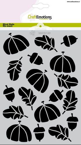 craftemotions mask stencil hedgy herfst a5 carla creaties 08 2 321501 nl G