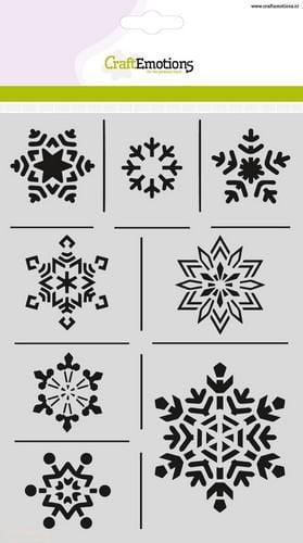craftemotions mask stencil ijskristallen a5 christmas nature 23569 1 G
