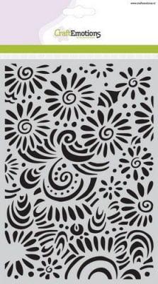 l achtergrond sjabloon bloemen met krullen a5